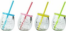 YöL 4 Gin Gläser geprägt Trinkglas Sommer Party