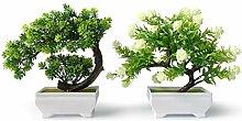 yoerm Mini-Kunstpflanze Bonsai für den