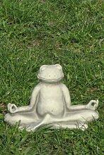 Yoga Frosch Steinguss 25 x 20 cm Garten Geschenk