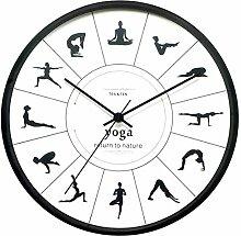 Yoga Haltungen Wanduhr,fitness Flexibel Mädchen