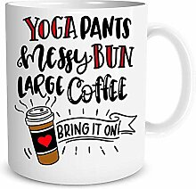 Yoga Hosen chaotisch Brötchen große Kaffee