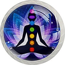 Yoga Lotus Position Mandala Blumen Möbelzubehör