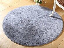 Yogamatten runden Teppich Wohnzimmer Schlafzimmer Bettvorleger , gray , 140cm