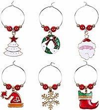 Yoin 6 Stück Weihnachtsbecher Dekoration Ringe