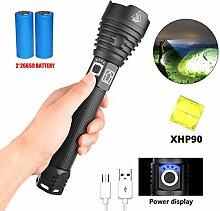YOJINKE LED Taschenlampe USB Aufladbar, XPH 90