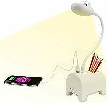 Yoland LED-Schreibtischlampe, wiederaufladbar, mit