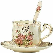 Yolife Floral Tea Tasse und Untertasse Set,