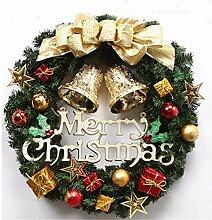yologg 30Cm Weihnachtskranz Christbaumschmuck