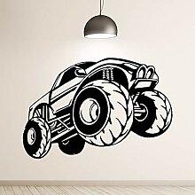 Yologg 38X56 Cm Cartoon Monster Truck Vinyl Racing