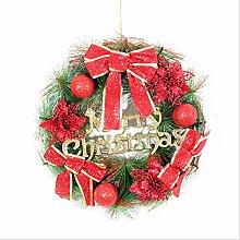 yologg 40Cm Weihnachtsblume Rattanringverzierung