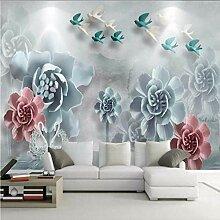 Yologg Relief Elegante Blumen Tapete Für