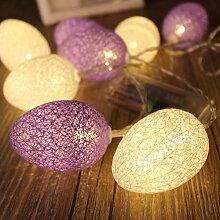 Yonfan 20er LED Globe Ostern Lichterkette