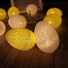 Yonfan 30er LED Globe Ostern Lichterkette