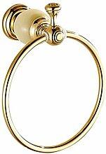 YONG Alle Kupfer Kreis Marmor und Gold Bad-Accessoires Handtuchring Handtuchhalter
