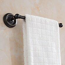 YONG Alle Kupfer retro antiken Einzelhandtuchhalter Handtuchhalter Bad-Accessoires , a , black