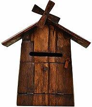 YONG FEI Briefkasten, europäische Retro-Holz