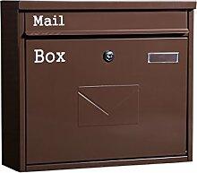 YONG FEI Briefkasten - Metall, groß mit Schloss
