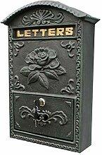 YONG FEI Mailbox - Metall, Schmiedeeisen Blumen
