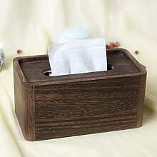YONG Vintage verbrannte-tong Holztablett Kreative Tissue-Boxen Restaurant Pump