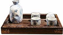 YONGMEI Sake Wine Set Geschenkbox Set Keramikkrug