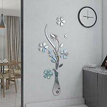 YongPan DIY Spiegel Blumenvase 3D Kristall Acryl