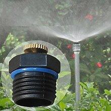 Yongse 1/2 Inch Einstellbare Messing Sprühdüse Gartenbewässerung Micro Sprinkler