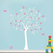 YONGSH Vogel Blume Baum Wandtattoo Aufkleber