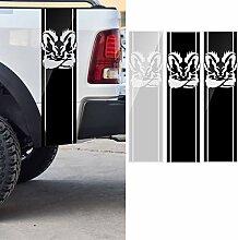 YONGYAO 97x25Cm Auto Streifen Racing Aufkleber PVC