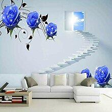 Yonthy 3D Tapete Wohnzimmer Schlafzimmer Blaue