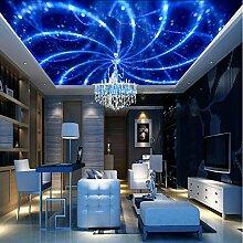 Yonthy 3D Tapete Wohnzimmer Schlafzimmer Decke