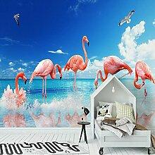 Yonthy 3D Tapete Wohnzimmer Schlafzimmer Flamingo