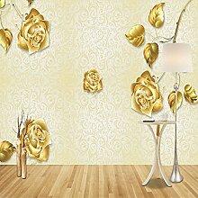 Yonthy 3D Tapete Wohnzimmer Schlafzimmer Goldene