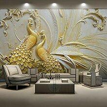Yonthy 3D Tapete Wohnzimmer Schlafzimmer Goldener