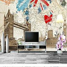 Yonthy 3D Tapete Wohnzimmer Schlafzimmer London