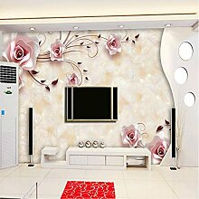Yonthy 3D Tapete Wohnzimmer Schlafzimmer Rose