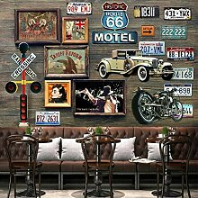Yonthy 3D Tapete Wohnzimmer Schlafzimmer Route 66