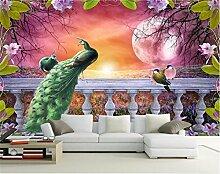 Yonthy 3D Wandbild Tapete Wand-Aufkleber für