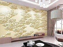 Yonthy 3D Wandbild Tapete Wand-Aufkleber Goldene