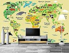 Yonthy 3D Wandbild Tapete Wand-Aufkleber Weltkarte