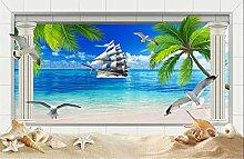 Yonthy 3D Wandbild Tapete Wand-Aufkleber