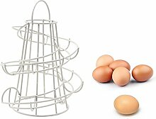 Yontree® Schönes Eierregal Spirales Eisenregal Geeignet für ca. 12-15 Eier Kreative Küchenregale