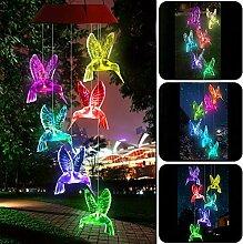 Yooda Windspiel mit Farbwechsel, solarbetrieben,