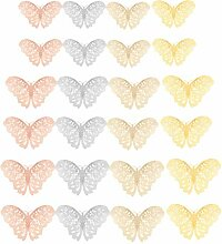 Yookat 96 x 3D-Schmetterling-Wandaufkleber,