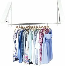yookoon 1PCS Haltbarer Kleiderbügel Kleiderbügel Edelstahl Faltwand Mount Kleiderbügel, faltbar, platzsparend für Hotel, Zimmer, Balkon, 2 PCS+2 tube