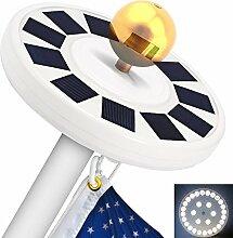 YOOQI Solar Fahnenmast Licht 30 LED Fahnenstange