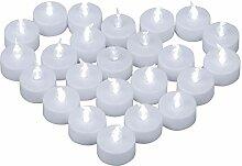 Yooyee LED Kerzen Teelichter 24 Stück Kaltweiß