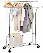 Yorbay Seelux Industrie Kleiderständer auf Rollen