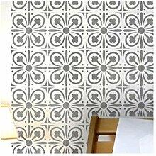 YORK FLIESE Wand Möbel Fußboden Schablone für