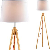 York Lampe aus natürlichem Holz