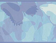 York Wallcoverings Petrol / weiß lila abstrakt